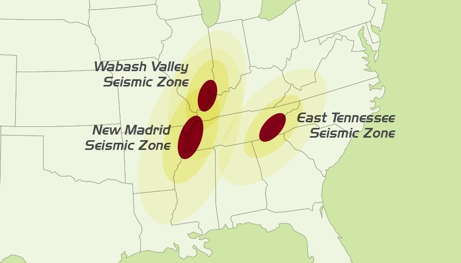 >Seismic Zones - New Madrid Seismic Zone